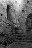 Dungeon. Interior of a prison inside the citadel in Hvar, Croatia Royalty Free Stock Images