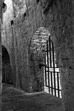 Dungeon. Interior of a prison inside the citadel in Hvar, Croatia Royalty Free Stock Photo