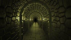 Dungeon assustador escuro ilustração do vetor
