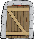 Dungeon doorway illustration over white Royalty Free Stock Images