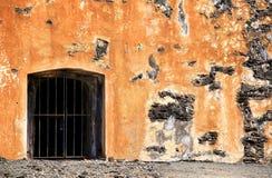 Dungeon gate. At Castillo San Cristóbal in San Juan, Puerto Rico Stock Image