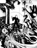 Dungeon-Kampf Stockbild