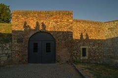 Dungeon like doors of the Roman at Kalemegdan fortress, Belgrade, Serbia. Stock Photos