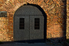 Dungeon like doors of the Roman well at Kalemegdan fortress, Belgrade Royalty Free Stock Photography