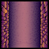 Dungeon stone wall background vector illustration Stock Photos