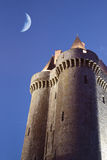 Dungeon in the twilight. The Solidor tower in the twilight, located in Saint-servan, France, Brittany Stock Photo