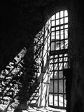Dungeon window inside. A view of a dungeon window from the dungeon interior of the Elfsborg fortress at Gothenburg in Sweden Royalty Free Stock Image