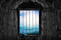 Free Dungeon With Window And Bars. Royalty Free Stock Photo - 141017745