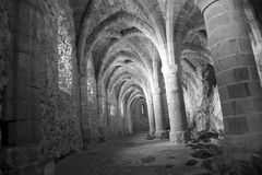 The dungeons of Chateau de Chillon royalty free stock photo