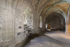 The dungeons of Chillon Castle, Switzerland royalty free stock photography