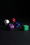 Dungeons and Dragons Dice Stock Photography