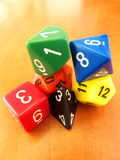 Dungeons & Dragons dice set for role playing games Royalty Free Stock Images
