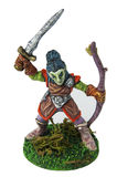 Dungeons and Dragons Elf miniature Royalty Free Stock Photos