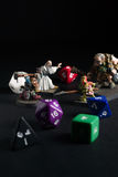 Dungeons and Dragons Figures and Dice Stock Photos