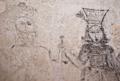 Dungeons of the Inquisition.graffiti. PALERMO, ITALY- JANUARY, 03-2013: Carcere dei penitenziati - Steri Palace-,open to the public the dungeons of the Royalty Free Stock Image