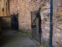 The Dungeons where the Pendle Witches were held in Lancaster Castle and the former Prison in Lancashire England Royalty Free Stock Image