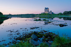 Dunguair Castle. At Sunset, Galway, Ireland Stock Photo
