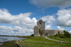 Dunguaire Castle. Ruins of Dunguarie Castle (Caisleán Dhún Guaire), it is located in Ireland, Europe Royalty Free Stock Photos