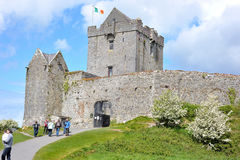 Dungory East, Kinvarra, Co. Galway, Ireland June 2017,Dunguaire. Dunguaire Castle entrance with people going in and out Stock Photos