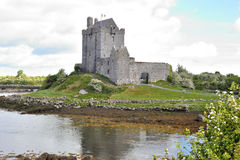 Dungory East, Kinvarra, Co. Galway, Ireland June 2017,Dunguaire. Dunguaire Castle exterior, taked from fare you can see the small river near the castle Royalty Free Stock Image