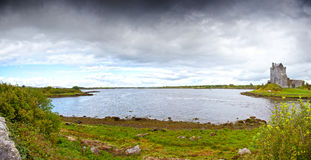 Dunguaire Castle. Ireland. Panoramic View of the Dunguaire Castle, Kinvara Bay,County Galway, Ireland Royalty Free Stock Image