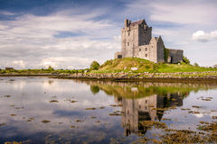 Dunguaire Castle, Ireland. Dunguaire Castle, reflected in the calm sea, in the town of Kinvara, County Galway, Ireland Royalty Free Stock Photos