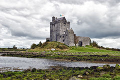 Dunguaire Castle, Kinvara, Ireland. Dunguaire Castle (Irish Dún Guaire), is a 16th-century tower house on the southeastern shore of Galway Bay in County Galway Stock Images