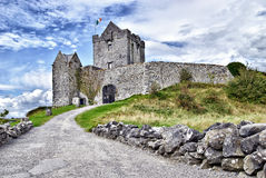 Dunguaire Castle, Kinvara, Ireland. Dunguaire Castle (Irish Dún Guaire), is a 16th-century tower house on the southeastern shore of Galway Bay in County Galway Royalty Free Stock Photo