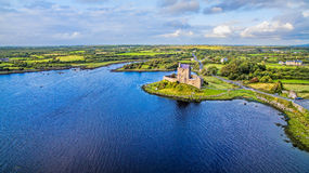 Dunguaire Castle, Kinvara, Ireland. Castle is probably the most famous land mark that is associated with Kinvara. The castle was b Royalty Free Stock Images
