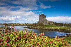 Dunguaire castle at the ocean Stock Photo