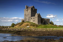 Dunguaire castle in sunny day. Dunguaire castle in Kinvara - HDR Stock Photography