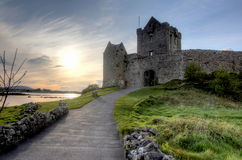 Dunguaire castle at sunset Royalty Free Stock Image