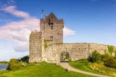Dunguaire Castle tower Ireland traveling travel middle ages Royalty Free Stock Photos