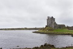 Dunguaire castle. View of Dunguaire castle on a raining day Royalty Free Stock Image