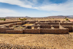 Dungur - Ruins of the palace of the Queen Sheba at Royalty Free Stock Photo