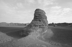 Dunhuang demon city. Jas Dan landform Stock Images