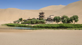 Dunhuang Mingsha Crescent Moon Spring Scenic Area Stockfoto