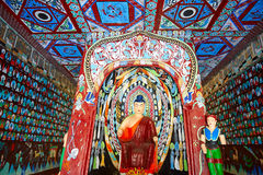 The Dunhuang Mogao Caves wall painting Stock Photos