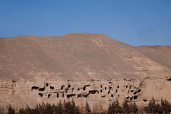 Dunhuang Mogao Grottoes ancient abandoned. Gansu Dunhuang Mogao Grottoes ancient abandoned Stock Photography