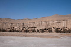 Dunhuang Mogao Grottoes ancient abandoned Stock Photos