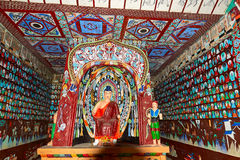 The Dunhuang Mogao Grottoes fresco in Gansu Stock Photos