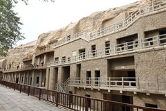 Dunhuang mogao grottoes. Gansu dunhuang mogao grottoes on the world religious and cultural heritage of the ancient silk road Stock Photos