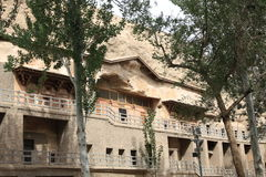 Dunhuang mogao grottoes Stock Image