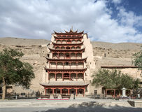 Dunhuang Mogao Grottoes nine-story. Eastphoto, tukuchina,  Dunhuang Mogao Grottoes nine-story Royalty Free Stock Image