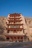 Dunhuang Mogao Grottoes nine-story Stock Images