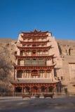 Dunhuang Mogao Grottoes nine-story. Gansu Dunhuang Mogao Peugeot nine-story building Stock Images