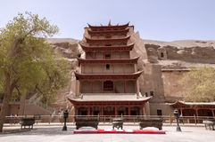 Dunhuang Mogao Grottoes scenery Stock Images