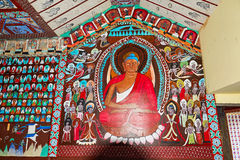 The Dunhuang Mogao Grottoes wall painting Royalty Free Stock Images