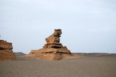 Dunhuang Yadan landform Stock Images