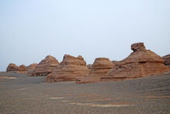 Dunhuang Yadan landform Stock Photography